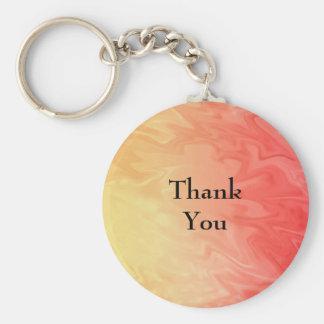 Porte-clés Texture jaune rouge de Merci