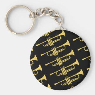 Porte-clés Thème de musique de trompette d'or