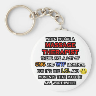 Porte-clés Thérapeute drôle… OMG WTF LOL de massage