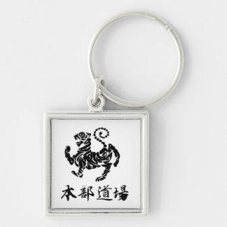 Porte-clés Tigre de Shotokan avec le porte - clé de kanji