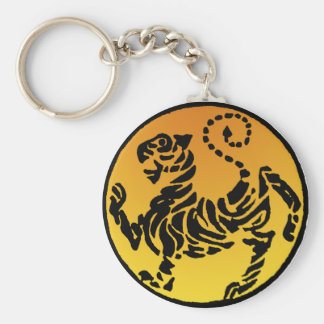 Porte-clés Tigre de Shotokan - or