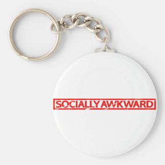 Porte-clés Timbre socialement maladroit