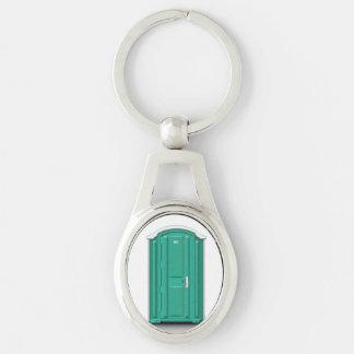 Porte-clés Toilette de Portable de turquoise