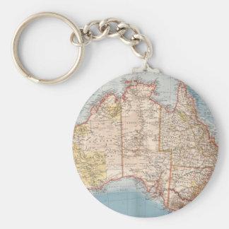 Porte-clés Topographie australienne Map (1905)