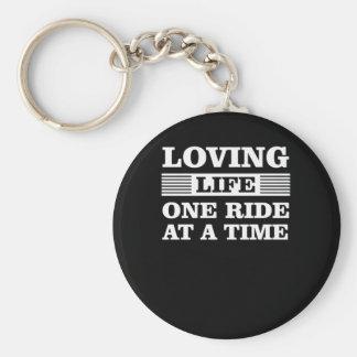 Porte-clés Tour affectueux de la vie une à la moto de temps