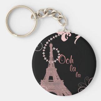 Porte-clés Tour Eiffel français chic girly de Paris de pays