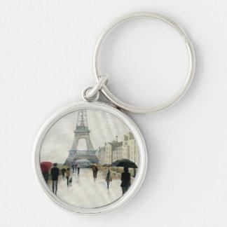 Porte-clés Tour Eiffel | Paris sous la pluie