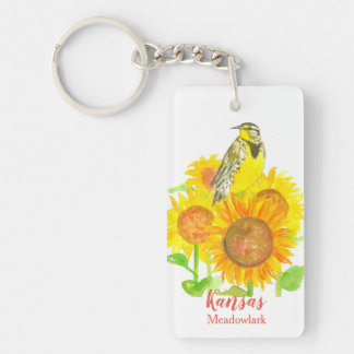 Porte-clés Tournesols Meadowlark occidental du Kansas