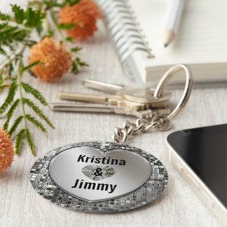 Porte-clés Tous noms sur le porte - clé argenté de