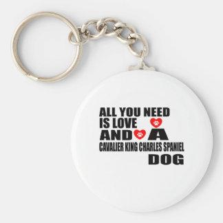 Porte-clés Tous vous avez besoin d'amour l'ÉPAGNEUL de ROI