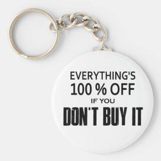 Porte-clés Tout est éteint 100% si vous ne l'achetez pas