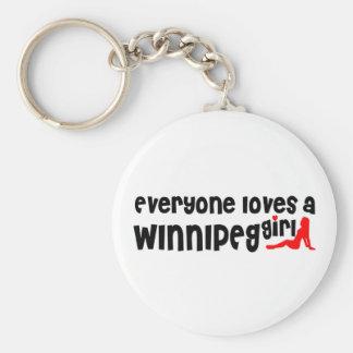 Porte-clés Tout le monde aime une fille de Winnipeg