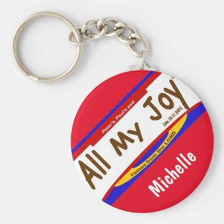 """Porte-clés Tout mon porte - clé chrétien de joie (2,25"""")"""
