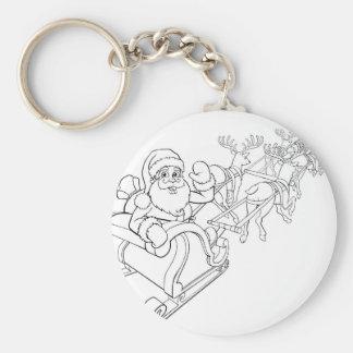 Porte-clés Traîneau de Sleigh de Noël du père noël et de