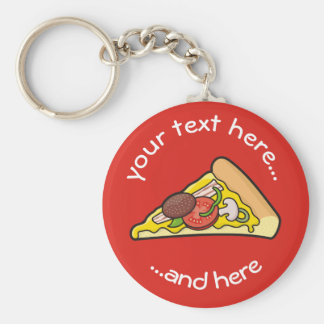 Porte-clés Tranche de pizza