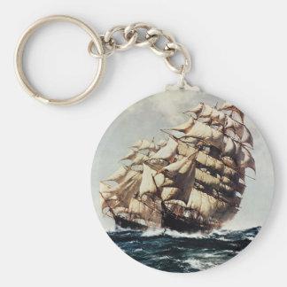 Porte-clés Transporation vintage, bateaux de tondeuse dans