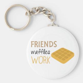 Porte-clés Travail de gaufres d'amis