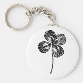 Porte-clés trefle à quatre feuilles