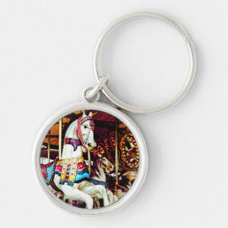 Porte-clés Trois chevaux de carrousel