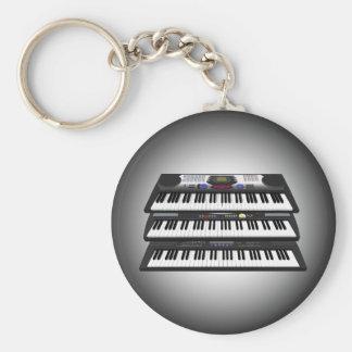 Porte-clés Trois claviers modernes : Synthétiseurs : Porte -