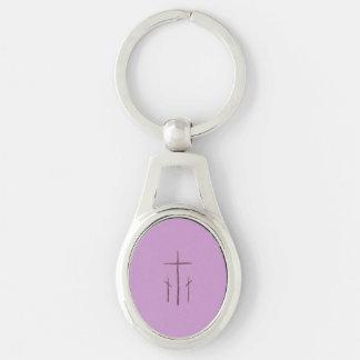 Porte-clés Trois croix sur le calvaire