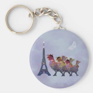 Porte-clés Trois porte - clés français de poules