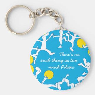 Porte-clés Trop de porte - clé de Pilates, bleu