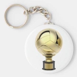 Porte-clés Trophée de volleyball d'or