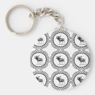 Porte-clés troupeau d'anneau d'orignaux