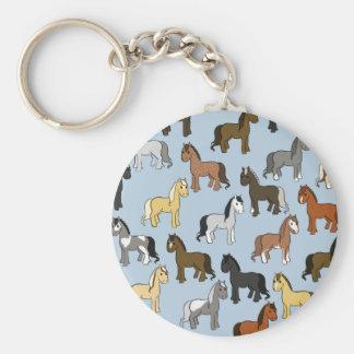 Porte-clés Troupeau mignon de chevaux