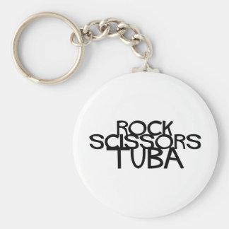 Porte-clés Tuba de ciseaux de roche