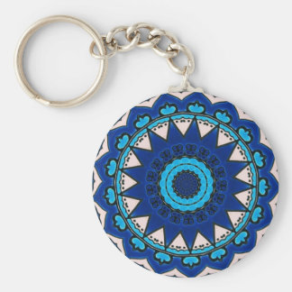 Porte-clés Turc Iznik de conception de bleu et de blanc