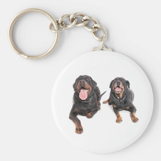 Porte-clés two rottweilers,