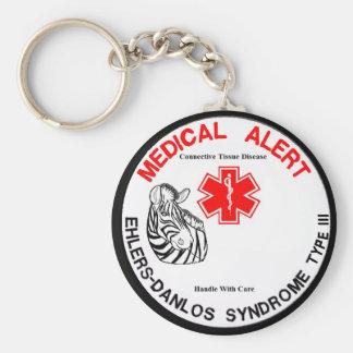 Porte-clés Type 3 alerte médicale d'Ehlers Danlos