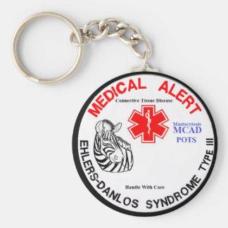 Porte-clés Type 3 d'EDS avec l'alerte médicale des POTS MCAD