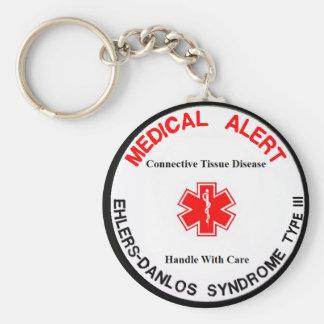 Porte-clés type 3 porte - clé vigilant médical d'eds