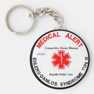 Porte-clés Type 3 porte - clé vigilant médical d'EDS de POTS