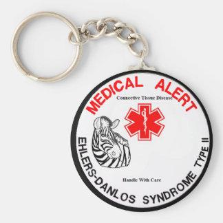 Porte-clés Type d'EDS - alerte 2 médicale avec le porte - clé