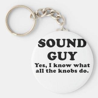 Porte-clés Type sain oui je sais ce que tous les boutons font