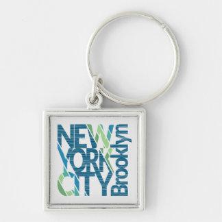 Porte-clés Typographie de Brooklyn New York