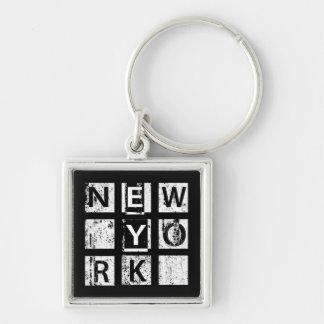 Porte-clés Typographie grunge de Bronx New York |