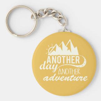 Porte-clés Un autre jour un autre aventure de motivation