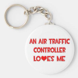 Porte-clés Un contrôleur de la navigation aérienne m'aime