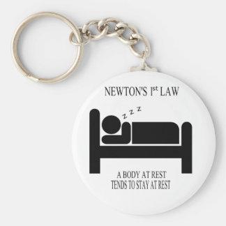 Porte-clés Un corps tend au repos à rester au repos la loi de