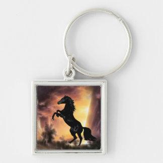 Porte-clés Un élevage frison de cheval d'étalon
