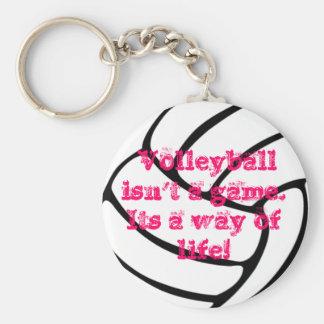 Porte-clés Une chaîne principale de volleyball merveilleux
