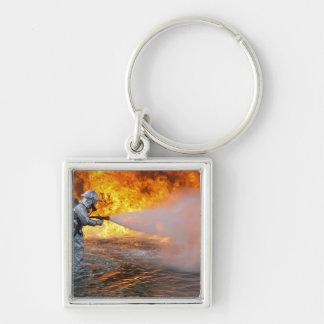 Porte-clés Une équipe de lutte contre l'incendie de