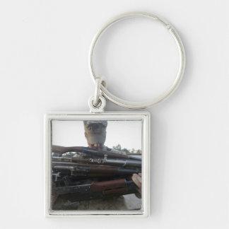 Porte-clés Une marine prépare 80 livres de seiz ennemi de