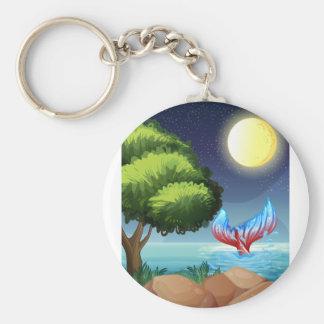 Porte-clés Une mer avec une queue d'une sirène