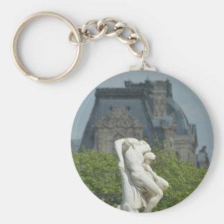 Porte-clés Une statue de marbre classique à Paris
